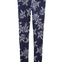 Aerie Women's Floral Print Legging (Royal Navy)