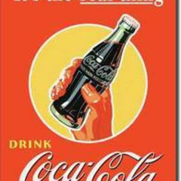 Tin Sign : Coke - Real Thing Bottle