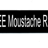 Motorcycle Helmet Sticker - FREE Moustache Rides