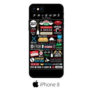 Friends Tv Show Infographic Poster IPHONE 8 | 8 PLUS