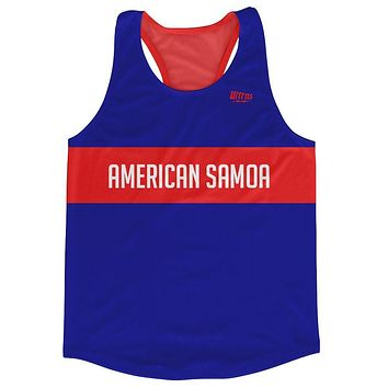 American Samoa Country Finish Line Running Tank Top Racerback Track and Cross Country Singlet Jersey