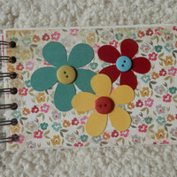 4x6 Floral Chipboard Scrapbook Photo Album