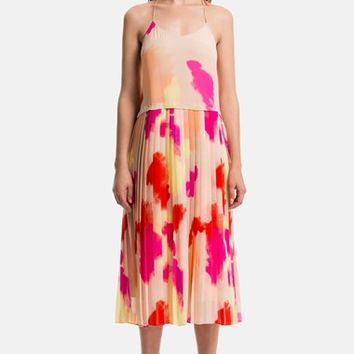 Women's 1.STATE Pleated Overlay Dress