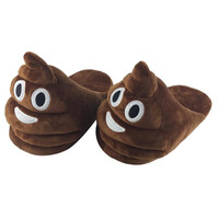 Jasmine Plush Slipper  poop emoticon