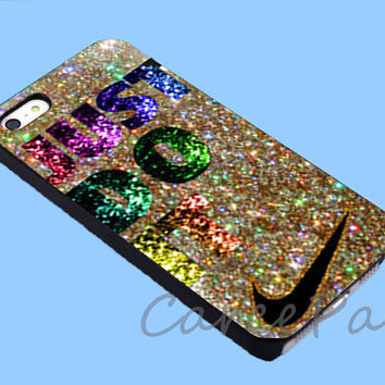 Just Do It Glitter on Gold Hard Case for iPhone 4/4S/5/5S/5C, Samsung Galaxy S3/S4, iPod Touch 4/5, htc One x/x+/S