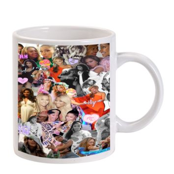 Gift Mugs | Beyonce Collage Ceramic Coffee Mugs