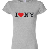 I love New York City Printed Graphic New York Graphic T Shirt Makes A Great Gift Printed Unisex Juniors Kids Toddlers Printed T Shirt