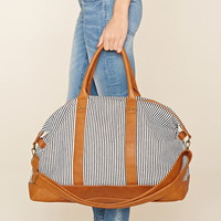 Striped Canvas Travel Bag