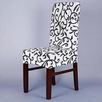 Spandex Stretch Dining Chair Cover Restaurant Wedding Slipcover Floral Party Decor