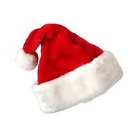 Deluxe Santa Hat Velveteen with White Faux Fur Trim Pkg/1