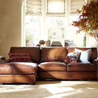 TURNER LEATHER 2-PIECE SECTIONAL WITH CHAISE