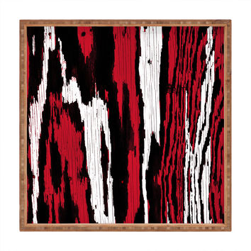 Caleb Troy Crimson Coal Splinters Square Tray