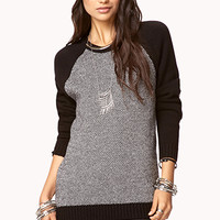 Elbow Patch Raglan Sweater