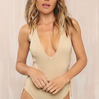 Curve You Bodysuit - Nude