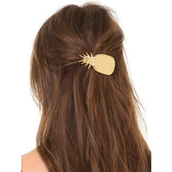 Stylish Christmas Gift for Her Alloy Pineapple Hairpin with Christmas Gift Box [9664561551]