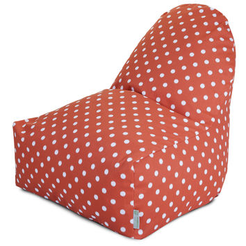 Orange Ikat Dot Kick-It Chair