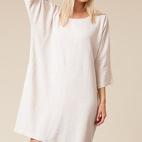 Meridan Relaxed Fit Linen Dress