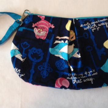 Alice in Wonderland and Cheshire Cat inspired Clutch Style bag