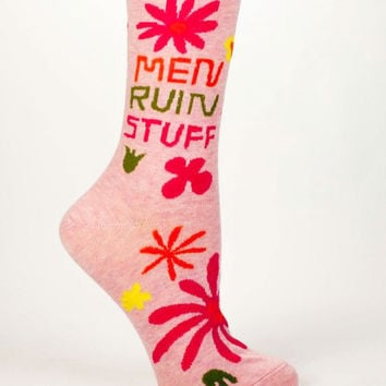 Men Ruin Stuff Women's Socks in Pink Starburst