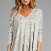 dolan Classic Slub Oversized Square Tee in Gray
