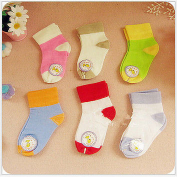 3 Pairs Baby Boy Girl Breathable Cotton Socks NewBorn Toddler Kids Soft Socks TB