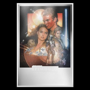2019 Niue 35 gram Silver $2 Star Wars Attack of the Clones Foil Poster
