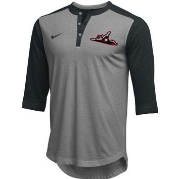 Richmond Flying Squirrels Nike Flux Henley Black