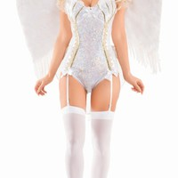 Sparkle Sweet Angel Costume, Sexy Angel Costume, Adult Angel Halloween Costume