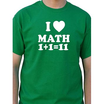 I Love Math T-Shirt Funny T Shirt Cool Tee Shirt