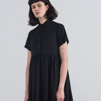 LO Basics Black Shirt Dress