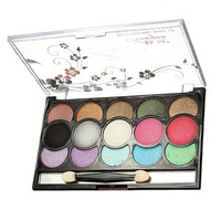 15 Colors Glitter Eye Shadow Makeup Cosmetic Eyeshadow