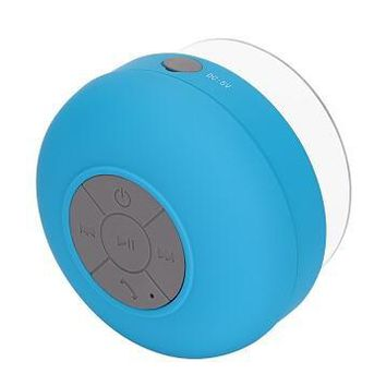Fornorm Mini Portable Subwoofer Shower Bathroom Waterproof Wireless Bluetooth Speaker Built-in Mic