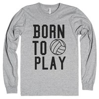 Born To Play-Unisex Heather Grey T-Shirt
