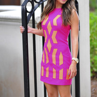 Send Me A Signal Dress: Hot Pink | Hope's