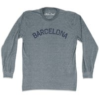 Barcelona City Vintage Long-Sleeve T-shirt