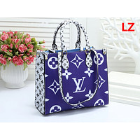 LV Hot Selling Ladies'Printed Coloured Single Shoulder Bag Fashion Shopping Bag Blue