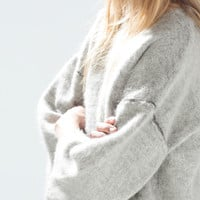 Fur texture sweater