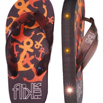 Anchors Light Up Flip Flops