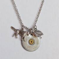 Hunting necklace with shotgun shell