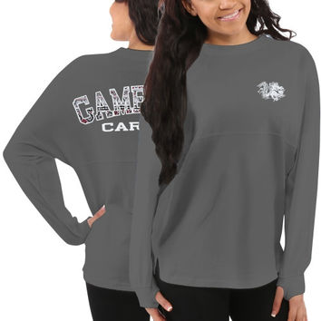 South Carolina Gamecocks Women's Aztec Sweeper Long Sleeve Top – Gray