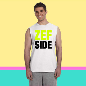 zef side Sleeveless T-shirt