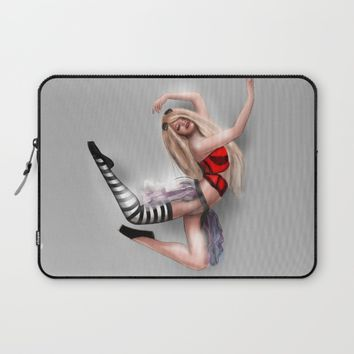 Ballerina steam jumping Laptop Sleeve by Mrnobody