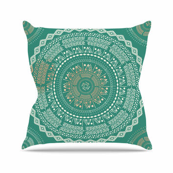 "Famenxt ""Mint Medallion"" Mint Pattern Outdoor Throw Pillow"