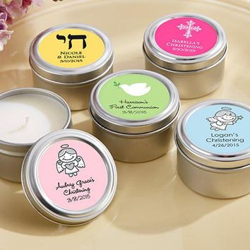 Candle Tin- Religious (Available Personalized)