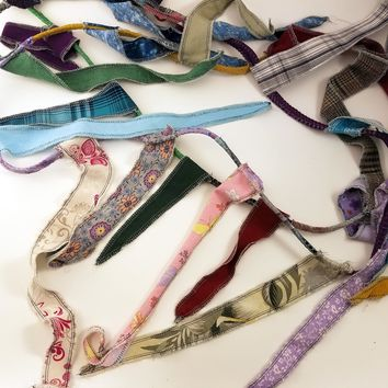 Gypsy Banner, Hippie Flag, Fabric Rag Garland, Choose Your Length, Bohemian Decor, Upcycled Materials, Multicolor Boho OOAK, Made to Order