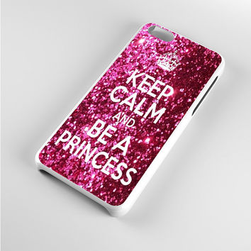 Keep Calm and Be a Princess Glitter iPhone 5c Case