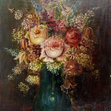 Old Roses Still Life Painting
