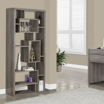 """Dark Taupe Reclaimed-Look 72""""H Bookcase"""
