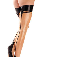 Fashion Stockings - Latex Full Fashion Thigh High Stocking by VEX