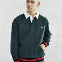 Stussy Long-Sleeve Rugby Polo Shirt